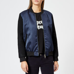Emporio Armani Women's Short Bomber Jacket - Navy