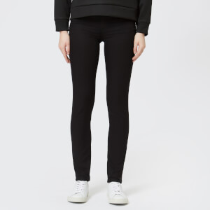 Emporio Armani Women's J28 Mid Rise Jeans - Black