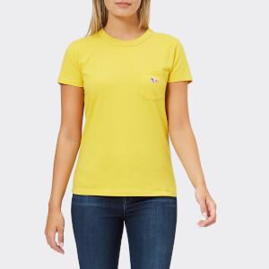 Maison Kitsuné Women's Tricolour Fox Patch T-Shirt - Mustard