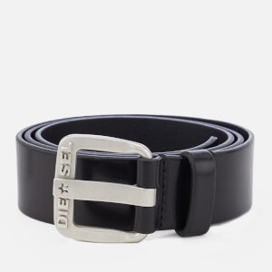 Diesel Men's B-Star Leather Belt - Black/Opac Free