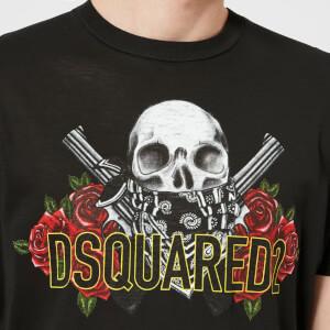 Dsquared2 Men's Pressato Long Fit T-Shirt - Black: Image 4
