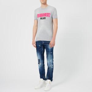Dsquared2 Men's Destroyed T-Shirt - Grey Melange: Image 3