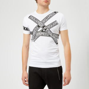 Dsquared2 Men's Dyed Chic Tape Detail T-Shirt - White
