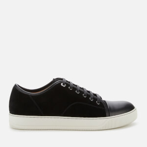 Lanvin Men's DBB1 Suede/Leather Captoe Trainers - Black