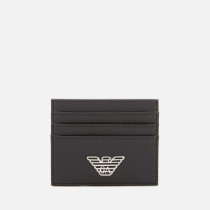 Emporio Armani Men's Logo Credit Card Holder - Black