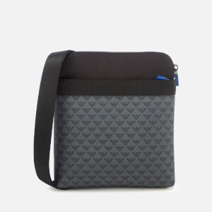 Emporio Armani Men's Flat Messenger Bag - Nero/Nero