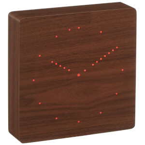 Gingko Analogue Click Clock - Walnut