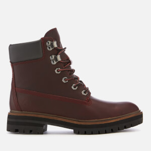 Timberland Women's London Square 6 Inch Leather Lace Up Boots - Dark Port