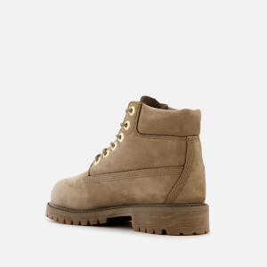 Timberland Kids' 6 Inch Premium Waterproof Leather Boots - New Greige Waterbuck: Image 2