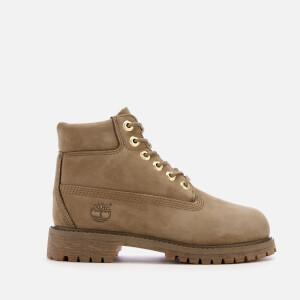 Timberland Kids' 6 Inch Premium Waterproof Leather Boots - New Greige Waterbuck