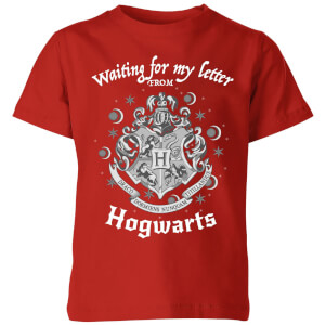 Harry Potter Waiting For My Letter From Hogwarts Kinder T-Shirt - Rot