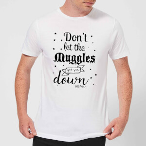 T-Shirt Harry Potter Don't Let The Muggles Get You Down - Bianco - Uomo
