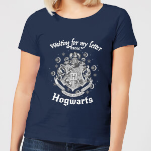 T-Shirt Harry Potter Waiting For My Letter From Hogwarts - Navy - Donna