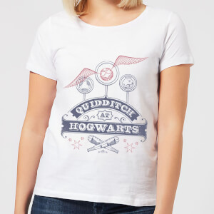 Harry Potter Quidditch At Hogwarts Damen T-Shirt - Weiß