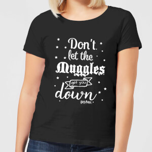 T-Shirt Harry Potter Don't Let The Muggles Get You Down - Nero - Donna