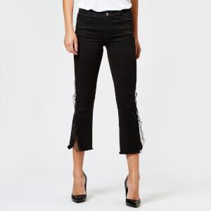 J Brand Women's Selena Mid Rise Crop Bootcut Jeans - Evening Haze