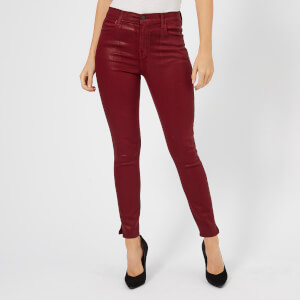 J Brand Women's Alana High Rise Crop Skinny Jeans - Oxblood