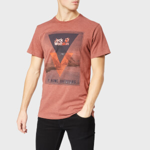Jack Wolfskin Men's Mountain Short Sleeve T-Shirt - Redwood