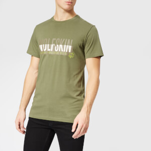 Jack Wolfskin Men's Slogan Short Sleeve T-Shirt - Woodland Green