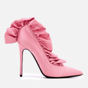 MSGM Women's Frill Court Shoes - Pink