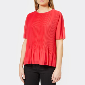 PS by Paul Smith Women's Pleated Top - Fusia
