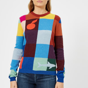 PS Paul Smith Women's Block Check Knitted Jumper - Multi