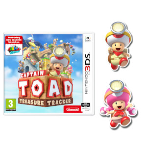 Captain Toad: Treasure Tracker (Nintendo 3DS) + Captain Toad & Toadette Pins