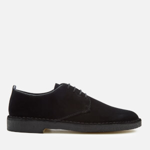 Clarks Originals Men's Desert London Suede Derby Shoes - Black