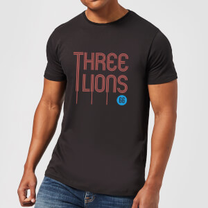 Three Lions Herren T-Shirt - Schwarz