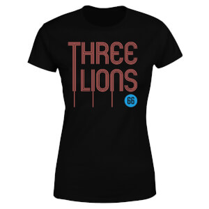 Three Lions Damen T-Shirt - Schwarz