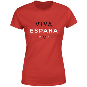 T-Shirt Femme Viva España Football - Rouge