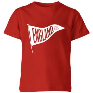 England Pennant Kinder T-Shirt - Rot
