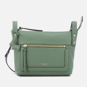 Radley Women's Eltham Palace Small Cross Body Bag with Zip Top - Sage