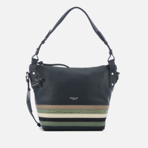 Radley Women's Eltham Palace Stripe Medium Shoulder Bag with Zip Top - Ink