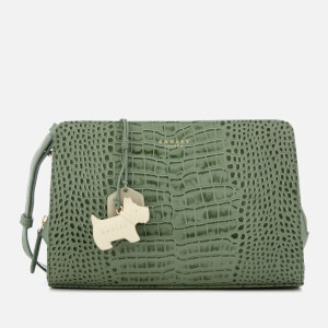 Radley Women's Liverpool Street Medium Cross Body Bag with Zip Top - Sage/Faux Croc