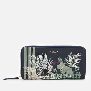 Radley Women's Longleat Palms Large Zip Around Matinee Purse - Ink