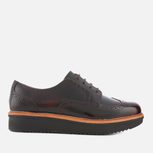 Clarks Women's Teadale Maira Leather Brogues - Aubergine