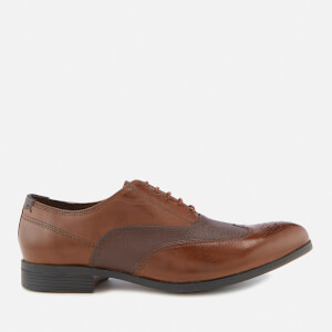 Clarks Men's Gilmore Wing Leather Oxford Shoes - British Tan Combi