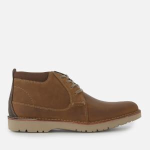 Clarks Men's Vargo Mid Leather Chukka Boots - Dark Tan: Image 1