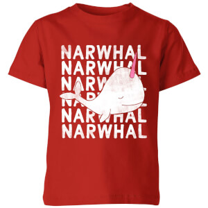 My Little Rascal Narwhal Kids' T-Shirt - Red