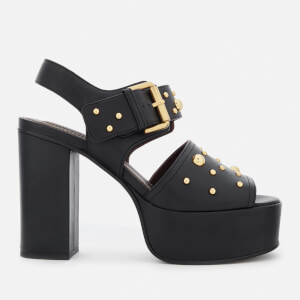 See By Chloé Women's Embellished Platform Heeled Sandals - Black