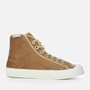 Novesta Men's Star Dribble Cord Hi-Top Trainers - Beige/White