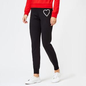 Love Moschino Women's Heart Logo Joggers - Black