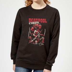 Sweat Femme Deadpool Family Corps Marvel - Noir