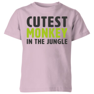 My Little Rascal Cutest Monkey In The Jungle - Baby Pink Kids' T-Shirt
