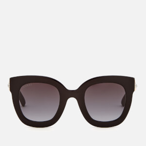 Gucci Women's Acetate Square Frame Sunglasses - Black/Grey