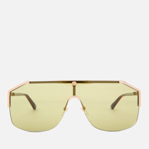 Gucci Men's Metal Angle Sunglasses - Gold/Havana