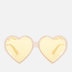 Gucci Women's Acetate Heart Sunglasses - Ivory/Yellow