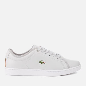 Lacoste Women's Carnaby Evo 318 6 Leather Trainers - Light Grey/White