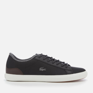 Lacoste Men's Lerond 318 2 Water Resistant Leather Trainers - Black/Brown